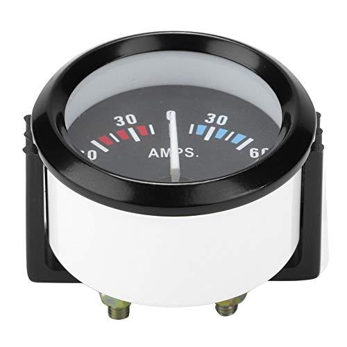 Medidor de amperios Aramox, coche 12V 60-0-60 amperios amperímetro amperímetro medidor universal 52 m / 2 pulgadas universal para vehículos