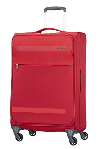 American Tourister Herolite Super Light Spinner Maleta, 67 cm, 68 Litros, Color Rojo
