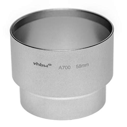 vhbw Adaptador de Filtro 58mm en Forma de Tubo para cámara Digital Reflex Objetivo Compatible con Canon Powershot A700, A710, A720 - Plata