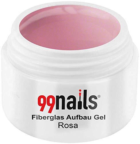 99 Nails fibre de verre structure Gel – Rose, 1er Pack (1 x 15 ml)