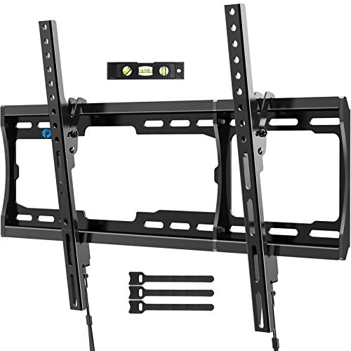 Pipishell Tilt TV Wall Mount Bracket Low Profile for Most 26-75 Inch LED LCD OLED PlasmaFlat Curved Screen TVs, Large Tilting Mount Fits 16-24 Inch Wood Studs Max VESA 600x400mm Holds up to 132lbs