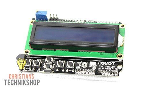 LCD Keypad Shield | 6-Tasten LCD-Shield mit 16x02-Anzeige für Arduino UNO/MEGA 2560 | Christian's Technikshop