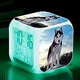 Reloj de Alarma Digital Perros Lindos Reloj Reloj de Temperatura para niños Lámpara de habitación Relojes Relojes Alarma Horloge Retroiluminación