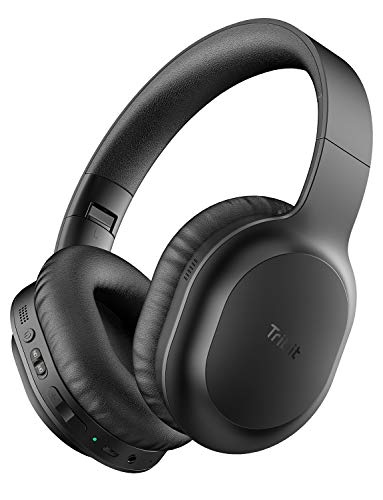 Tribit QuietPlus 50 Bluetooth Headphones, Active Noise Cancelling Headphones with 30H Playtime, Bluetooth 5.0, Hi-Fi Stereo and Soft Earpads, Built-in CVC8.0 Mics, Foldable for Travel/Home/Office