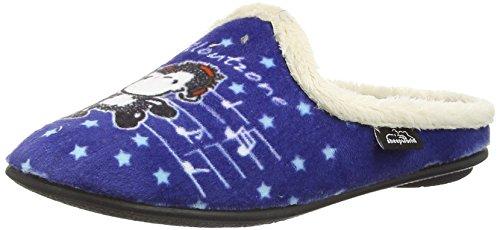 Sheepworld Mädchen 320427 Flache Hausschuhe, Blau (Blau), 31