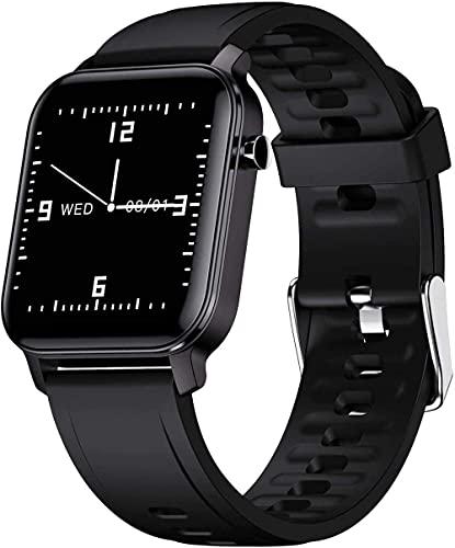 SVUZU Reloj Inteligente, rastreador de Ejercicios con Pantalla táctil de 1,4', Relojes para Hombres y Mujeres, podómetro, rastreador de Ejercicios, Monitor de frecuencia cardíaca IP68 a