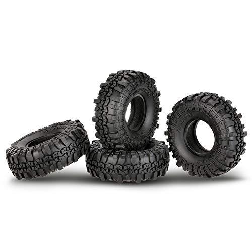 Gyratedream 4er 1,9 Zoll Rock Crawler Reifen Mit Bead Lock Felge Für D90 SCX10 AXIAL RC4WD TF2 RC Auto