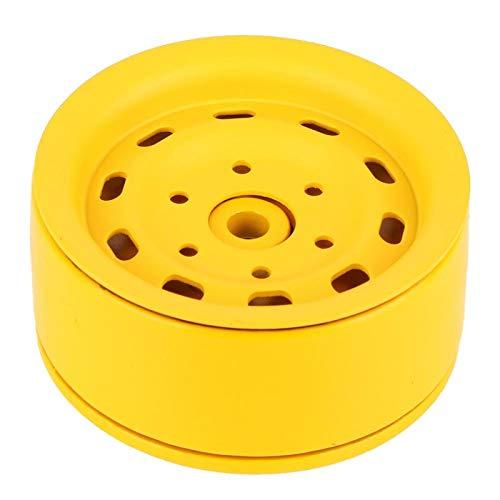 Kadimendium 1.9'Aleación Beadlock Bujes de llanta de Rueda RC Crawler Pieza de automóvil Desgaste: Mano de Obra Exquisita para Amigos, Familia, niños, niñas para niños, Interiores, Exteriores(Yellow)
