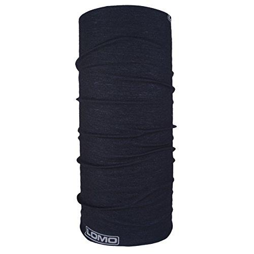 Lomo Cache-col. Polyvalent : bandana, cagoule, tour de cou, moto, camping Motifs noirs