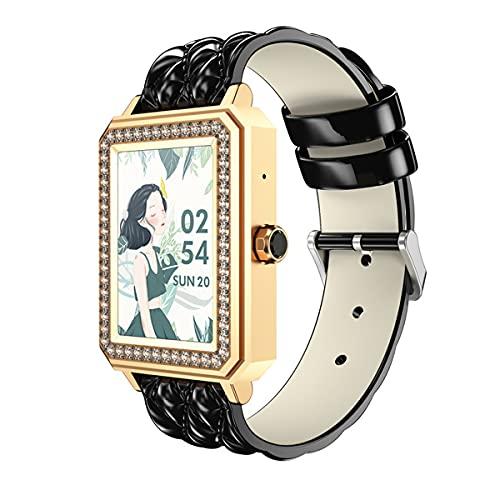 Relojes inteligentes para mujeres, pantalla de alta definición de 1,65 ', reloj inteligente para teléfonos Android y teléfonos iOS, con gestión de la salud del ciclo fisiológico de las mujeres, reco