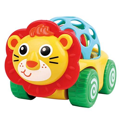 Spaß Interaktiv Umweltschutz Babykomfort Cartoon Lion Ziehen Zurück Schiebe Hand Rassel Ball Auto Neugeborenes Baby Spielzeug Die Beste Wahl für Kinder (Size : C)