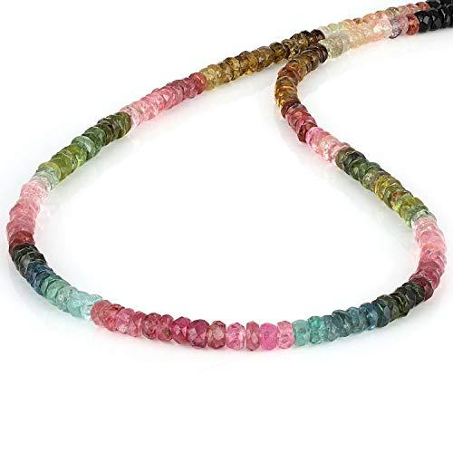 Collar multiturmalina facetado Rondelle con múltiples colores, collar multiusos con piedras semipreciosas para regalo de compromiso