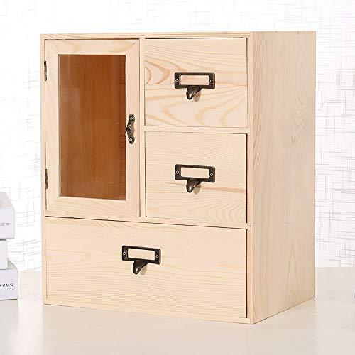 Kcakek Planken Desktop Storage Box Lade Storage Box kaptafel Cosmetische Storage kast lade Makeup Locker cosmetische opbergdoos Organizer grote capaciteit Exquisite Cosmetische zaak