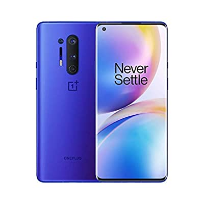 OnePlus 8 Pro Ultramarine Blue, 5G Unlocked Android Smartphone U.S Version, 12GB RAM+256GB Storage, 120Hz Fluid Display,Quad Camera, Wireless Charge, with Alexa Built-in from OnePlus