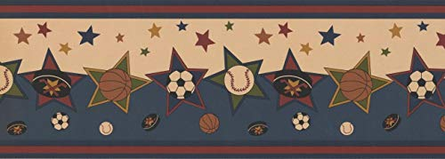 7 in x 15 ft Prepasted Wallpaper Borders - Sports Wall Paper Border ngb76805