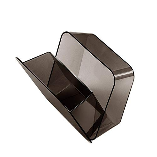 Daojun Cubo de Basura montado en la Pared Cubo para el baño Puerta de Vidrio de Inodoro montada en la Etiqueta de Basura Que colgaba la Basura Puede pequeña con la Tapa (Color : Black)