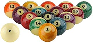 "Aramith Stone Collection Pool Balls Full Set 2 1/4"" Regulation Size Phenolic Billiards Balls"