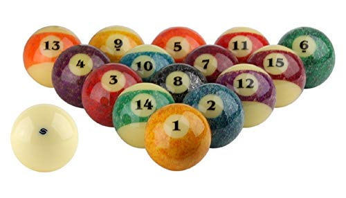Aramith Stone Collection Pool Balls Full Set 2 1/4' Regulation Size Phenolic Billiards Balls