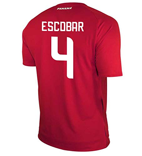 New Balance Escobar #4 Panama Home Soccer Men's Jersey FIFA World Cup Russia 2018 (M)