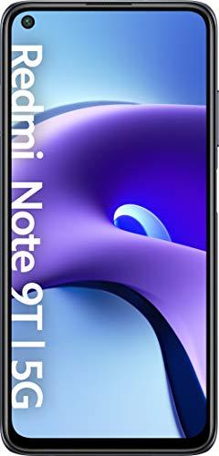 """Xiaomi Redmi Note 9T 5G - Smartphone 4GB+64GB, 6,53"""" FHD+ DotDisplay 60 Hz, MediaTek Dimensity 800U, 48MP Triple Kamera, 5000mAh, NFC, Nightfall Black (Offizielle Version + 2 Jahre Xiaomi Garantie)"""