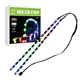 Vetroo Addressable LED Light Strip Dual LED Strips for Modding PC Case M/B with 3 pin 5V RGB Header Compatible with Asus Aura, Asrock RGB Led, Gigabyte RGB Fusion, MSI Mystic Light (Dual)