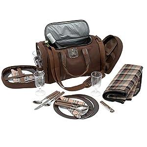Picknick Tasche inkl. Geschirr für 4 Personen – Art. 600519