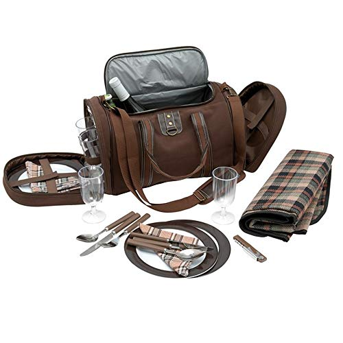 TOPICO Picknick Tasche 4 Picknick, braun