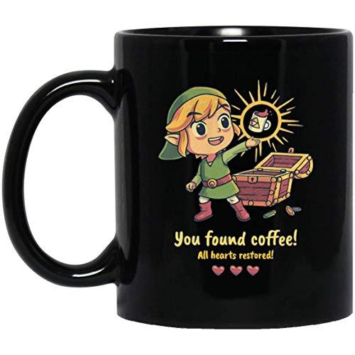 ZELDA YOU FOUND COFFEE ALL HEARTS RESTORED 11 oz. Black Mug