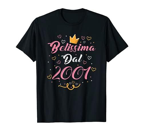 Belissima Dal 2001 Regalo 20 Anni Compleanno Donna Ragazza Maglietta