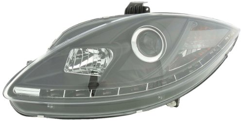 FK-Automotive LHD Only Daylight koplamp geschikt voor Seat Leon (type 1P) / Altea/Toledo (type 5P) Yr. 05- zwart