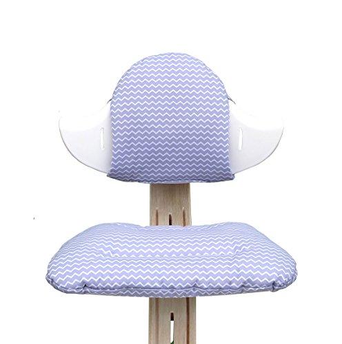 Blausberg Baby - Sitzkissen Set für Nomi Hochstuhl von Evomove - Chevron Lila