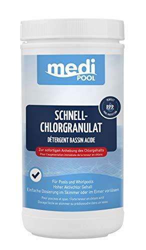 POWERHAUS24 Chlorgranulat organisch - 1KG - schnell löslich - Aktivchlor Mind. 56% Pflegefibel