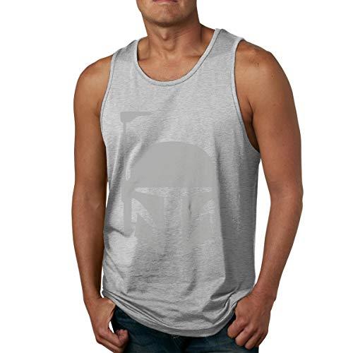 Abigails Home Boba Fett 2 Chemises sans Manches pour Hommes débardeurs t-Shirt de Sport en Basketball t-Shirt Fitness en Plein air(3XL,Gris)