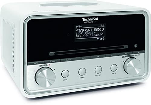 TechniSat DIGITRADIO 585 – DAB+ Hybridradio(DAB, UKW, Internetradio, Bluetooth, Spotify, Wireless Charging, App- und Alexa Sprachsteuerung, OLED-Display, USB, CD, MP3, Kompaktanlage, Kopfhörer) weiß