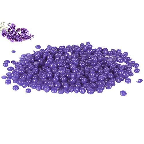 LUOLLOVE Professionell Wachs Haarentfernung Natürliches Lavendel Geschmack Wachsbohnen für Körper, Gesichts, Bein, Achselhöhlen, Brust, Bikini Enthaarung,Keine Streifen Erforderlich