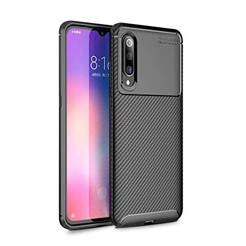 Funda Xiaomi Mi 9 Teléfono Móvil Silicona Bumper Case y Flexible Resistente Ultra Slim Anti-Rasguño Protectora Caso para Xiaomi Mi 9 (Black, Xiaomi Mi 9)