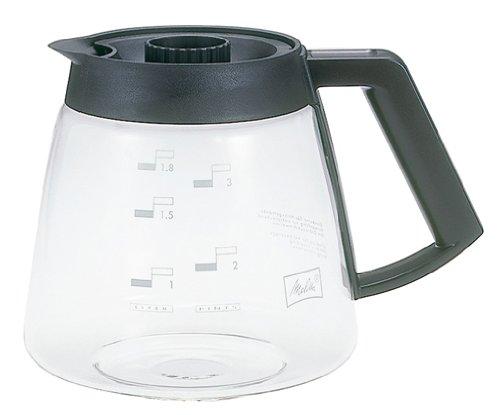 Melitta Glaskanne, Ersatz- Kaffeekanne für Filterkaffeemaschinen, Borosilikatglas, 1,8 l