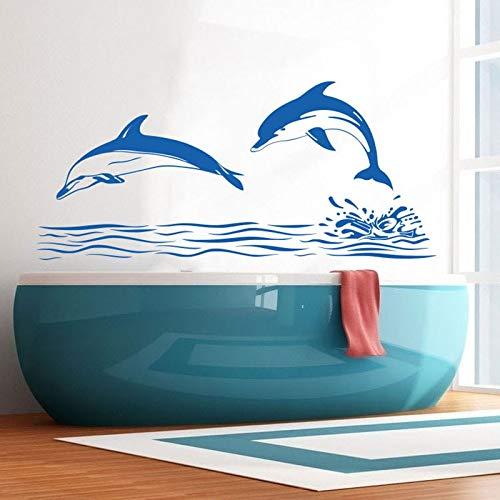 Yaonuli Delphin wandtattoo decoratie sticker badkamer dolfijn wanddecoratie vinyl wandbehang