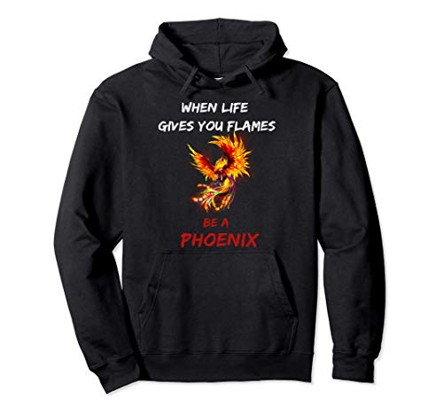 Rising Phoenix Flames Fire Bird Mythical Rebirth lover Gift Pullover Hoodie