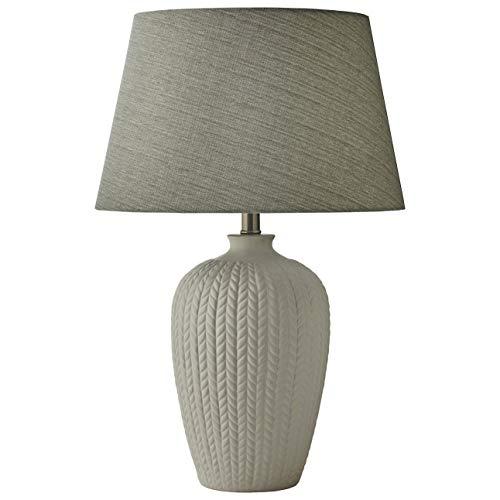 Knit Pattern Ceramic Lamp