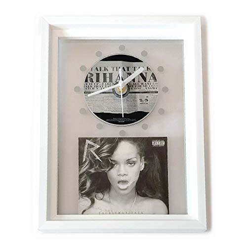 RIHANNA - Talk That Talk: GERAHMTE CD-WANDUHR/Exklusives Design
