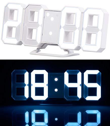 Lunartec Tischuhr: Große LED-Tisch- & Wanduhr, 7-Segment-Ziffern, dimmbar, Wecker, 21,5cm (LED Tischuhr)