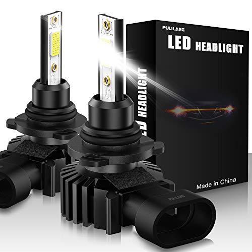 Negro Infitary-Faros Delanteros Bombillas LED ZES Chips 64W 6500K 8000LM Singular Beam Coche Moto Reemplazo de la Luz Hal/ógena 1 Pareja 9005 HB3