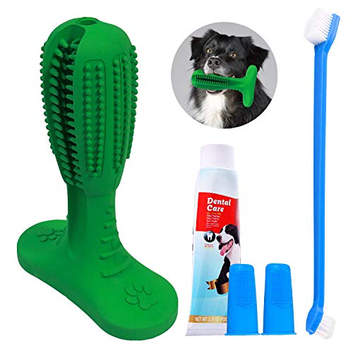 All Prime Dog Toothbrush Toy - Aug 2019 Upgrade- Also Included Free ($8 Value) Dog Teeth Cleaning...