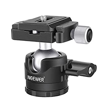 Neewer Low-Profile Ball Head 360 Degree Rotatable Tripod Head for DSLR Cameras Tripods Monopods