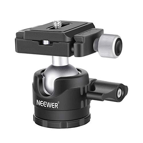 Neewer Niedrige Profile Kugelkopf 360 Grad drehbarer Stativkopf für DSLR-Kameras Stative Einbeinstative