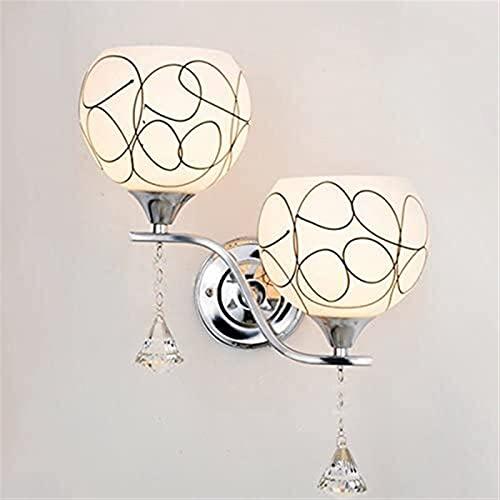 E27 Crystal Doble Head Lámpara De Pared Sala De Estar Dormitorio Fondo Pared Lámpara De Decoración