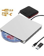 Unidad de DVD externa CD NOLYTH USB3.0 CD Reproductor de DVD Grabadora Grabadora para computadora portátil / MacBook / Windows / PC