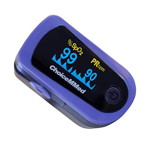 Mobiclinic, MD300C23, Pulsioxímetro de dedo, SpO2, Pulsómetro de dedo, Oxímetro de dedo, Onda pletismográfica, Monitor de Oxígeno Portátil, Pantalla OLED, Lectura Instantánea