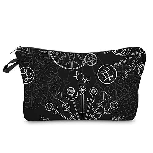 Bolígrafo Bolsa de maquillaje de bolsa de organizador de cosméticos bolsas de almacenamiento portátiles para mujeres pequeñas pluma cas Bolsa de maquillaje ( Color : Black , Size : 18x22x13.5cm )